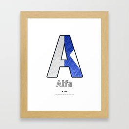 Alfa - Navy Code Framed Art Print