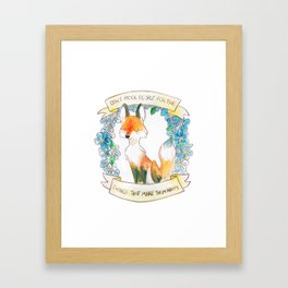 How To Be A Decent Person - Fox Framed Art Print