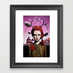 She Dreams in Mysterious Ways Framed Art Print