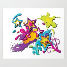 Crazy World Art Print