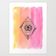 Geometric Diamond 1 Art Print