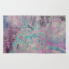 Purple and Blue Textures Rug