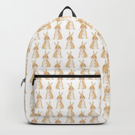 Cute rabbit illustration on white background Backpack
