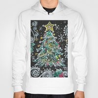 christmas tree Hoodies featuring Christmas Tree by Teri Newberry