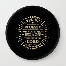 Colossians 3 vers 23 Wall Clock