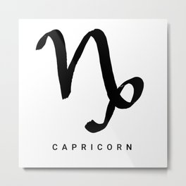 KIROVAIR ASTROLOGICAL SIGNS CAPRICORN #astrology #kirovair #symbol #minimalism #home #decor Metal Print