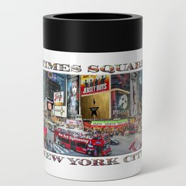 Times Square II (widescreen poster on white) Can Cooler