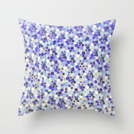 Blue disks Throw Pillow
