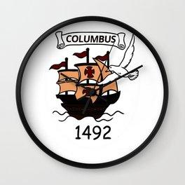 Columbus 1492 Wall Clock