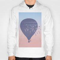 hot air balloon Hoodies featuring Hot Air Balloon (P) by HeyAle!