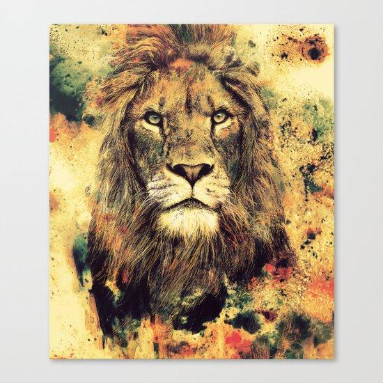 LION -THE KING Canvas Print