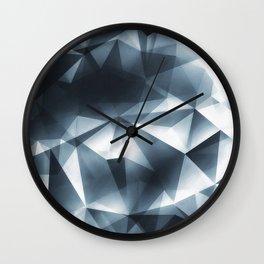 Abstract Cubizm Charcoal Drawing Wall Clock
