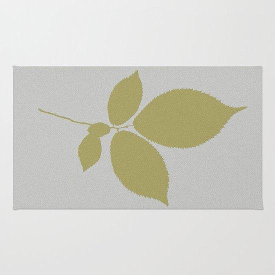 Vert et feuille d'or Rug