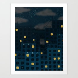 Starlight Night Art Print