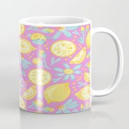 Lemon Pattern Pink Coffee Mug