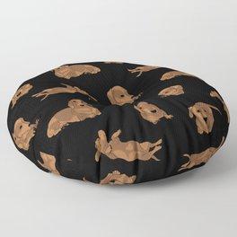 Short Haired Dachshund Pattern Floor Pillow