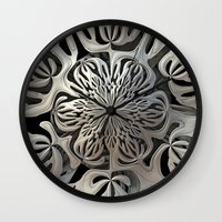 exo Wall Clocks featuring Exoskeleton  by Lyle Hatch