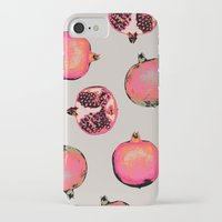 georgiana paraschiv iPhone & iPod Cases featuring Pomegranate Pattern by Georgiana Paraschiv
