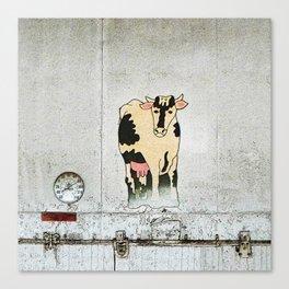 Old Milk House Cow Art Canvas Print