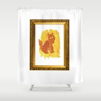 the little prince Shower Curtains featuring The Little Prince Fox by Ia Re
