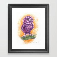 Cute Lil' Ol' Owl Framed Art Print