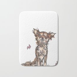 Dogs with Balloons Bath Mat