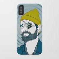 zissou iPhone & iPod Cases featuring Steve Zissou by Chelsea Kepner