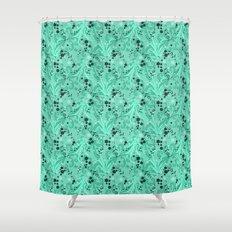 Elegant Flowers & Leaves Pattern Shower Curtain