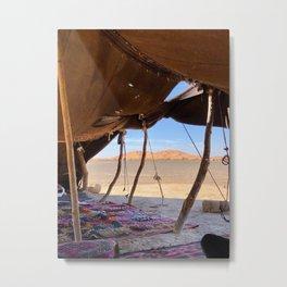 Desert Tent, Sahara Desert, Morocco Metal Print
