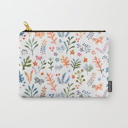 Rainbow Floral Pattern Carry-All Pouch