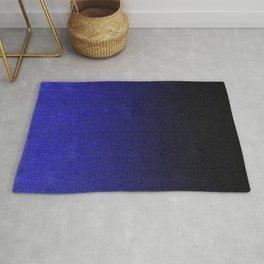 Blue & Black Glitter Gradient Rug