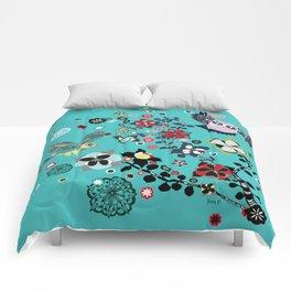 owl and lark Comforters
