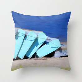 Boat for rent 1 Throw Pillow