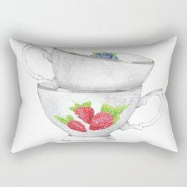 Berries Cups Rectangular Pillow