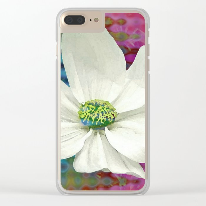 Cosmos Rainbow Clear iPhone Case