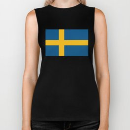Swedish Flag Biker Tank