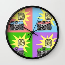 Let's warholize...and say cheese! Wall Clock