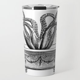 Tentacles in the Tub | Octopus in Bath | Vintage Octopus | Black and White | Travel Mug