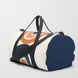 Abstract Shapes 11 in Burnt Orange and Navy Blue Duffle Bag