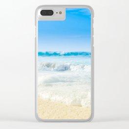 Beach Love Summer Sanctuary Clear iPhone Case
