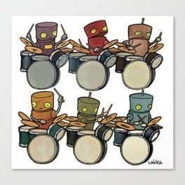 Robot - Drummers Canvas Print