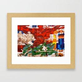 RED BOOT Framed Art Print