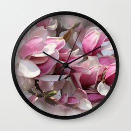 Magnolias Vignette Wall Clock