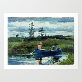 Winslow Homer - The Blue Boat, 1892 Art Print