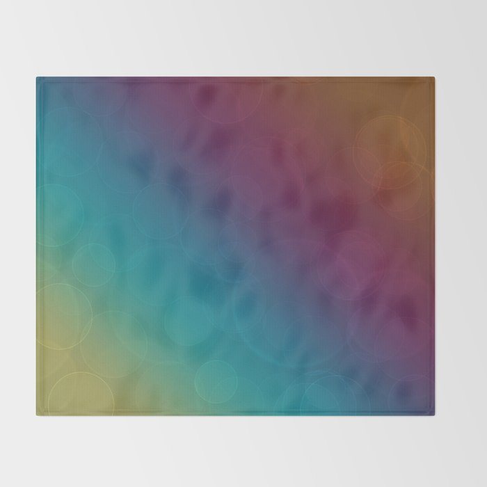 Bohek Bubbles on Rainbow of Color - Ombre multi Colored Spheres Throw Blanket
