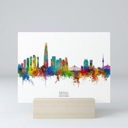 Seoul Skyline South Korea Mini Art Print