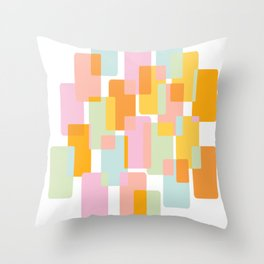 Pastel Geometric Shape Collage Throw Pillow
