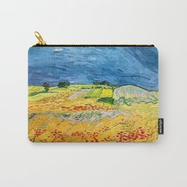 Fields with Blooming Poppies by Vincent van Gogh Carry-All Pouch