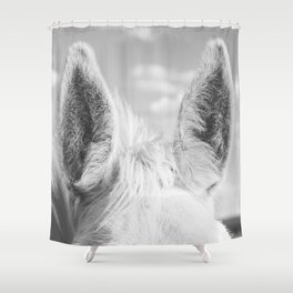 Horse Ears Shower Curtain