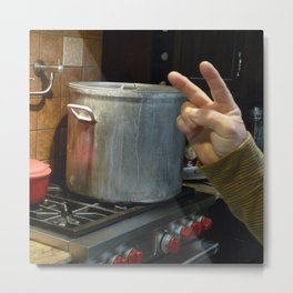 Peace And Pot Metal Print